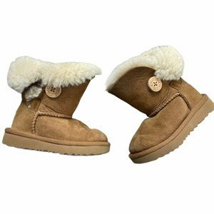 UGG Bailey Button Chestnut Toddler Boots Size 6